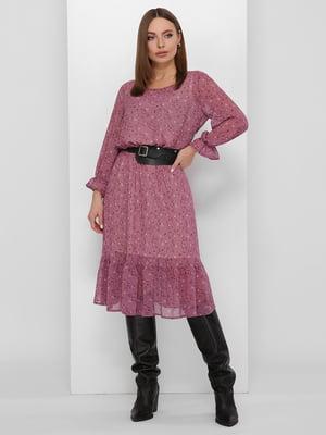 Платье фиолетовое в принт | 5711749