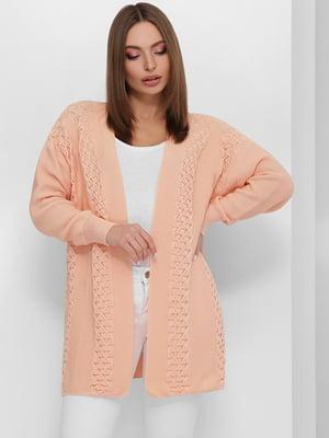 Кардиган персикового кольору | 5711762