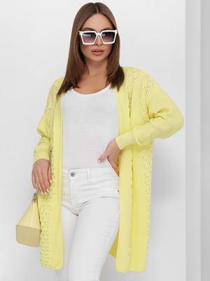 Кардиган жовтий | 5711764