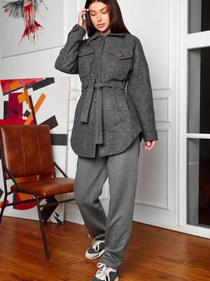 Пальто графитового цвета | 5711901