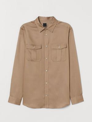 Рубашка темно-бежевая | 5712644