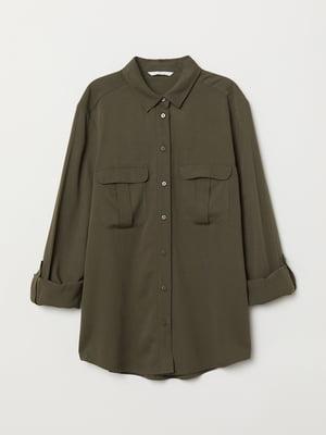Рубашка цвета хаки | 5712657