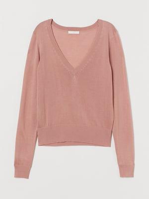 Пуловер темно-розовый | 5712910