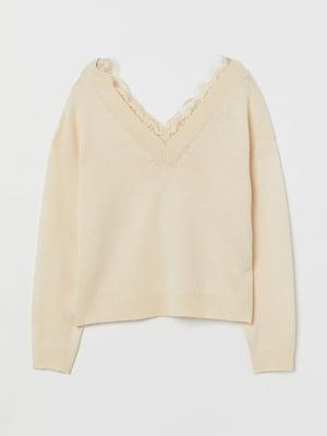 Пуловер молочного цвета | 5712913