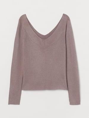 Пуловер темно-бежевый | 5712929