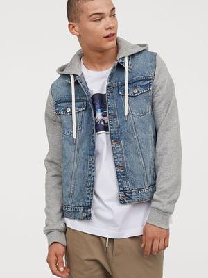 Куртка серо-голубая джинсовая | 5713102
