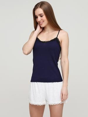 Майка темно-синяя пижамная | 5713114