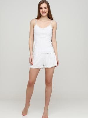 Шорти піжамні білі з візерунком | 5713123