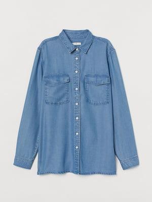 Рубашка синяя джинсовая   5713135