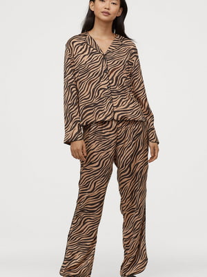 Брюки пижамные анималистической расцветки   5713138