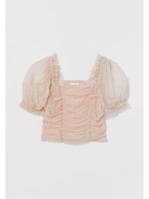 Топ-блузка цвета пудры | 5713145