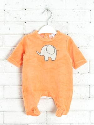 Чоловічок морквяного кольору з малюнком   5713296