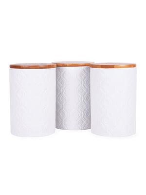 Набір з 3-х банок для сипких з бамбуковою кришкою (10х10х15 см) | 5197644