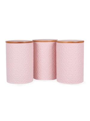 Набір з 3-х банок для сипких з бамбуковою кришкою (10х10х15 см)   5197648