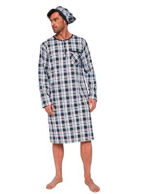Набір: сорочка нічна і чепчик для сну | 5713461