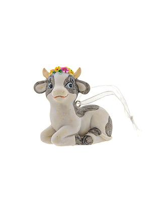 Фигурка декоративная «Коровка с цветами» (5,5х5,5 см) | 5705896