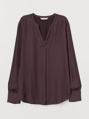 Блуза для годуючих сливового кольору в смужку | 5711456
