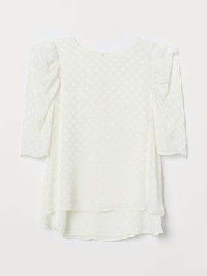 Блуза для кормящих кремового цвета в горошек   5711511