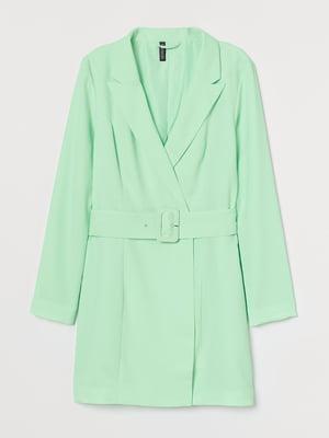Сукня-жакет яскраво-м'ятного кольору | 5711533