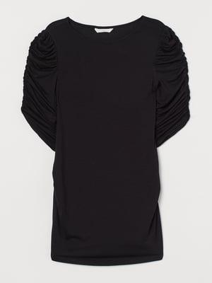 Блуза-топ для вагітних чорна | 5711550