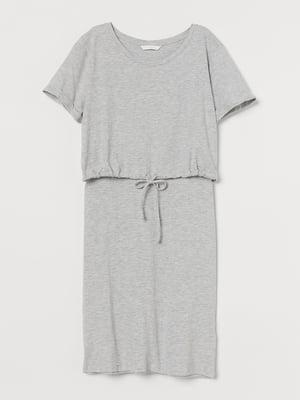 Платье для кормящих светло-серое | 5711586