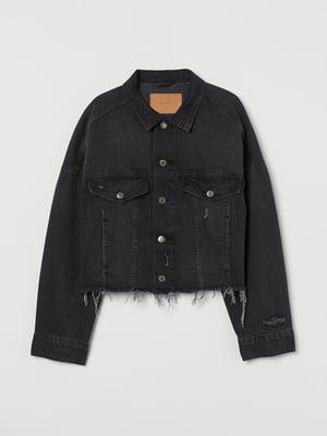 Куртка джинсова темно-сіра | 5711599