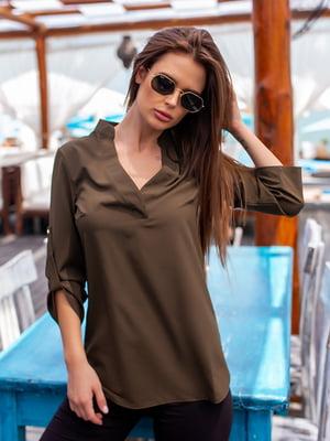 Блуза кольору хакі | 5715021