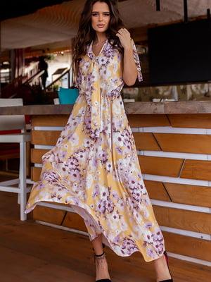 Сукня жовта у квітковий принт | 5715026
