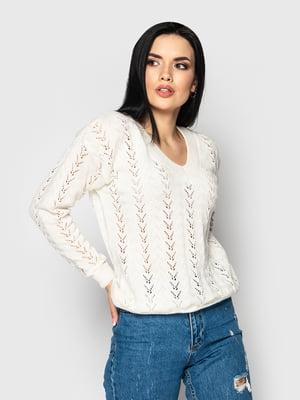 Пуловер молочного кольору | 5715351