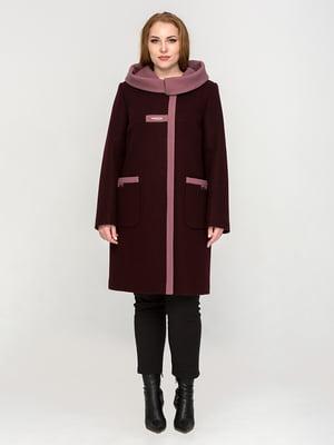 Пальто винного кольору | 5715435
