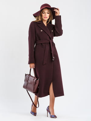 Пальто кольору марсал | 5715440