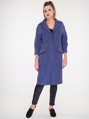 Пальто цвета джинс | 5715459