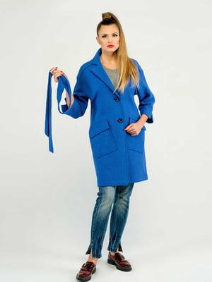 Пальто кольору електрик | 5715460