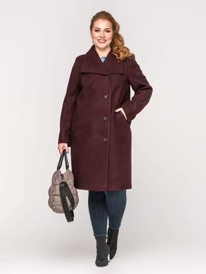 Пальто винного кольору | 5715515