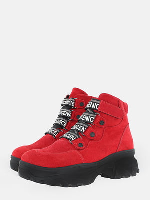 Ботинки красного цвета | 5710176