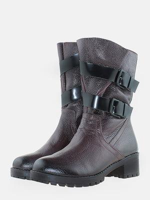 Ботинки бордовые | 5715609