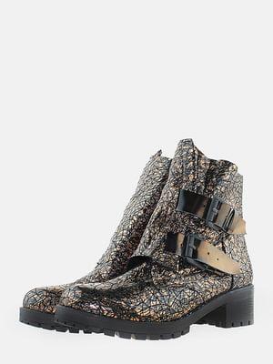 Ботинки бронзового цвета с рисунком | 5715619