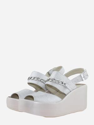 Босоніжки сріблястого кольору | 5715756