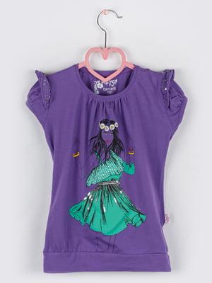 Туніка фіолетова з малюнком | 5713760
