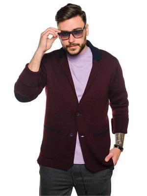 Пиджак бордовый | 5632111