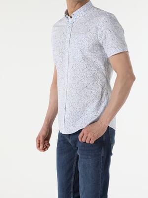 Сорочка біла з принтом | 5709272