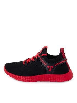 Кроссовки черные с красными элементами | 5716483