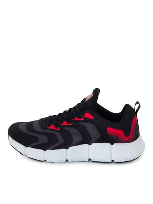 Кроссовки черные с красными элементами | 5716510