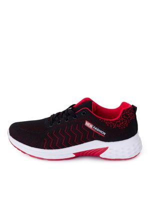 Кросівки чорні з червоними елементами | 5716522