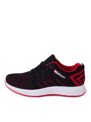Кроссовки черные с красными элементами | 5716543