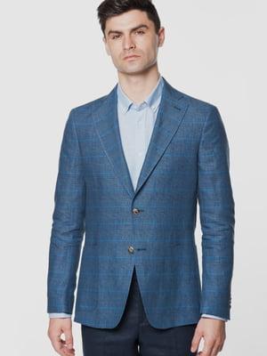 Пиджак синий в клетку | 5716573