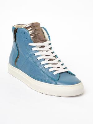 Кроссовки голубые   5705828