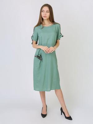 Платье серо-зеленое | 5707873