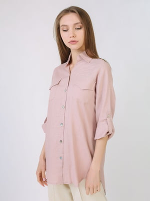 Рубашка цвета пудры | 5707876