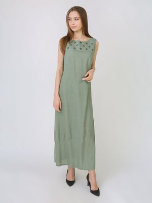 Платье оливкового цвета | 5707882